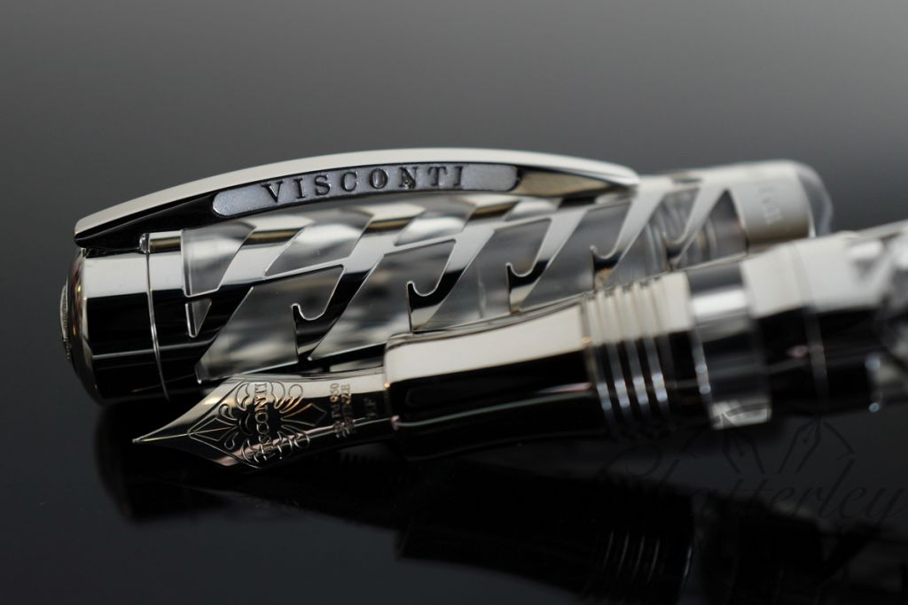 Visconti Limited Edition Skeleton Watermark Sterling Silver Fountain Pen
