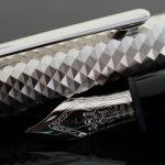 Montblanc 146 Meisterstück Solitaire Doué Geometric Dimension Platinum LeGrand Fountain Pen