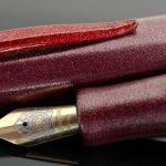 Danitrio Urushi Ishimeji Wine on  Hakkaku (Octagon) Fountain Pen