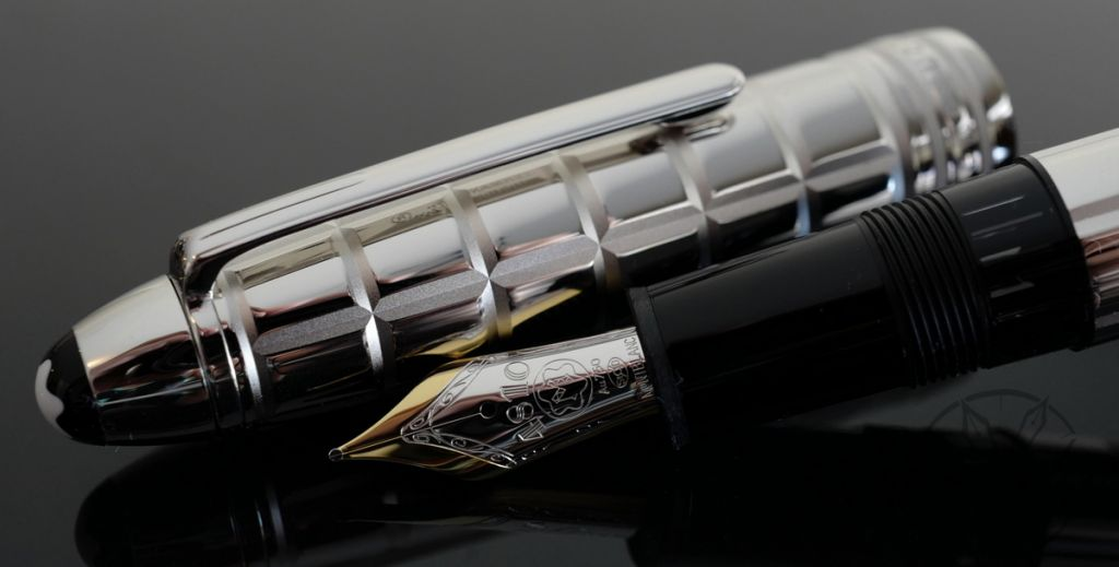 Montblanc 146 Meisterstück Solitaire Platinum-Plated Facet LeGrand Fountain Pen