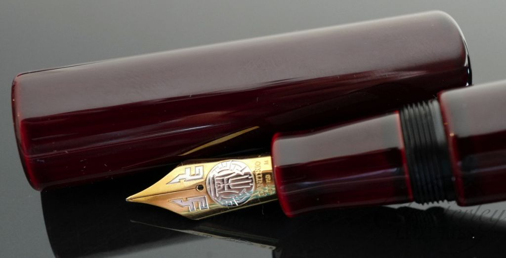 Danitrio Tame-nuri on Shu (Red) on Genkai Fountain Pen