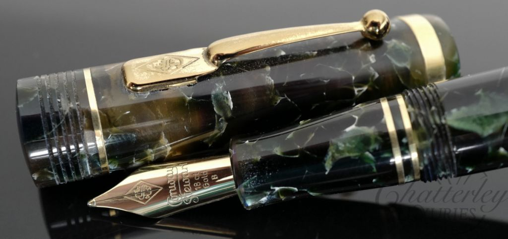 Conway Stewart Green Churchill Fountain Pen