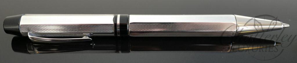 Delta Sterling Silver Profili Ballpoint Pen - Black