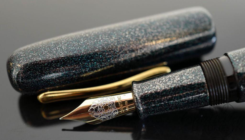Danitrio Urushi Nashiji-nuri Blue on Takumi Fountain Pen