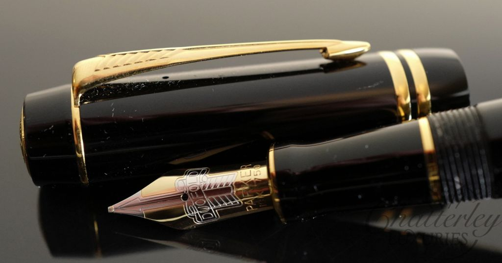 Parker Duofold Centennial Black with Gold Trim Fountain Pen