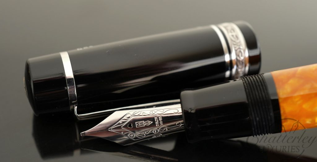 Delta Dolce Vita Oversize Fountain Pen with Sterling Silver Trim