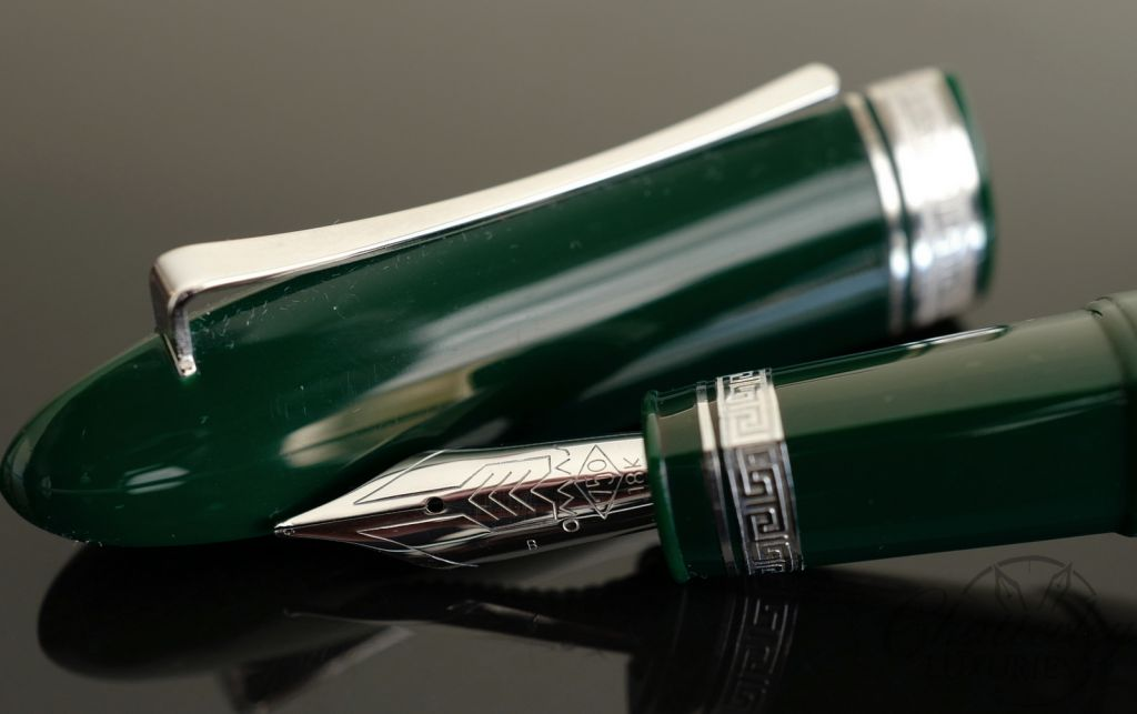 Omas 360 Fountain Pen in Green with HT Trim