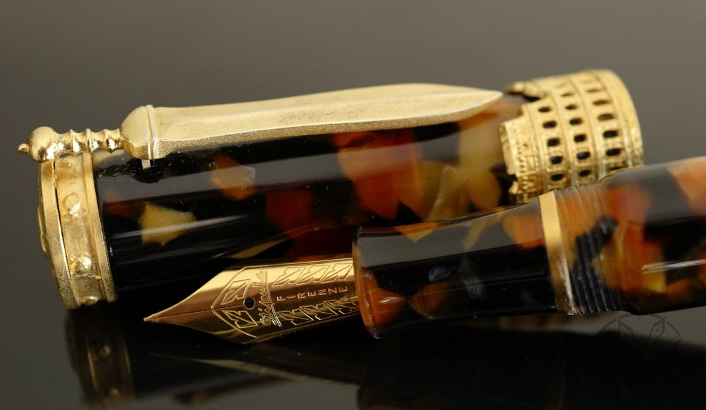 Stipula Gladiator Tortoise Fountain Pen