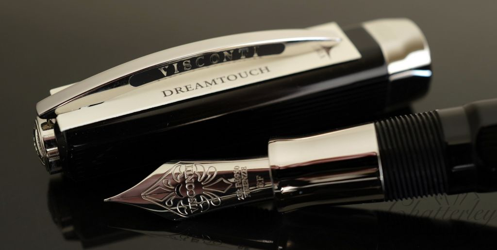 Visconti Opera Black Guilloche Fountain Pen
