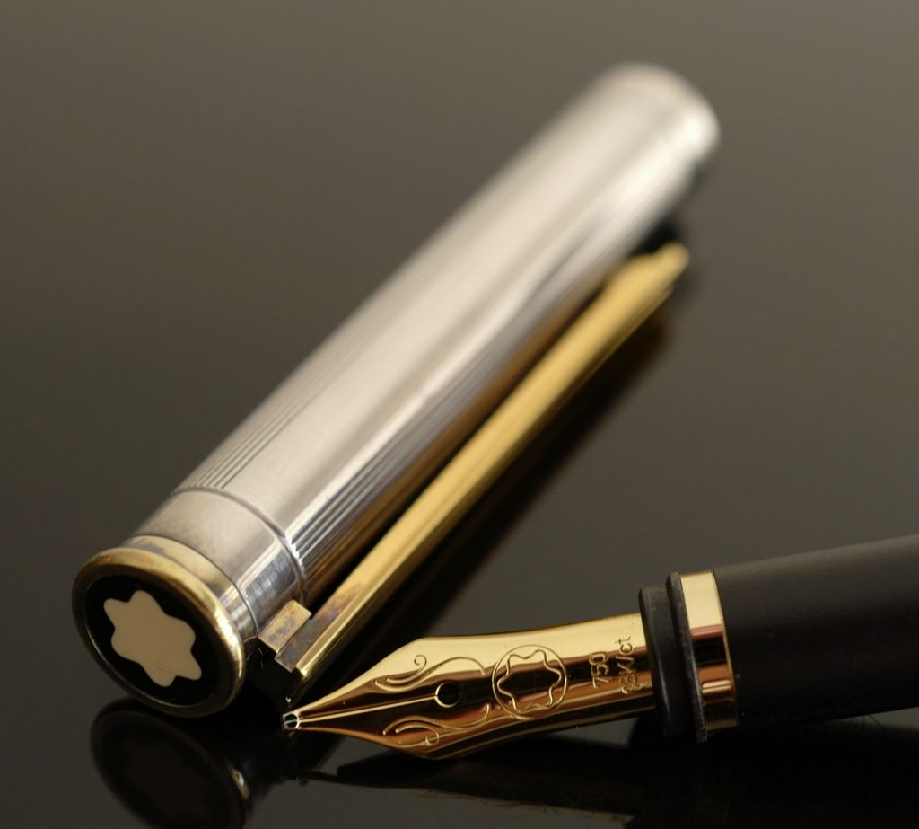 Montblanc Noblesse Silver with Gold Trim Fountain Pen