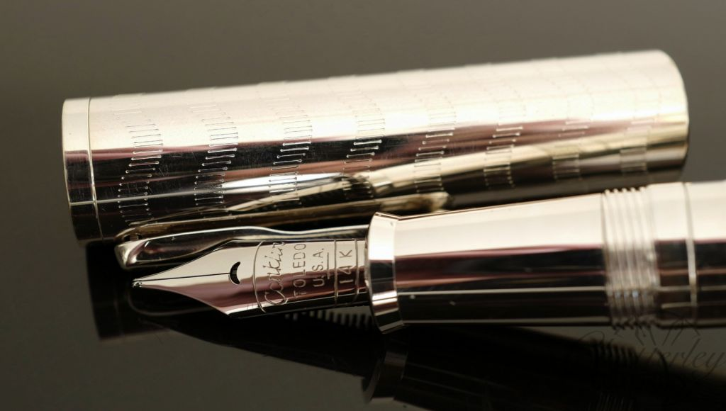 Conklin Limited Edition Sterling Silver Crescent Fountain Pen