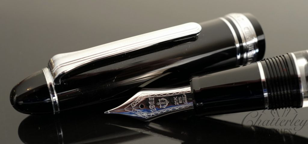 Sailor 1911 Realo Black Silver Fountain Pen