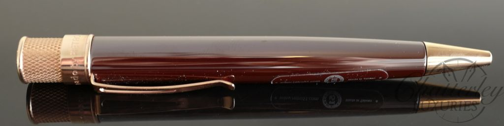 Retro 1951 Brown Ceramic Tornado Line Cut Cap-less Rollerball
