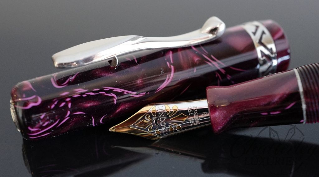 Visconti Voyager Red Marble Fountain Pen