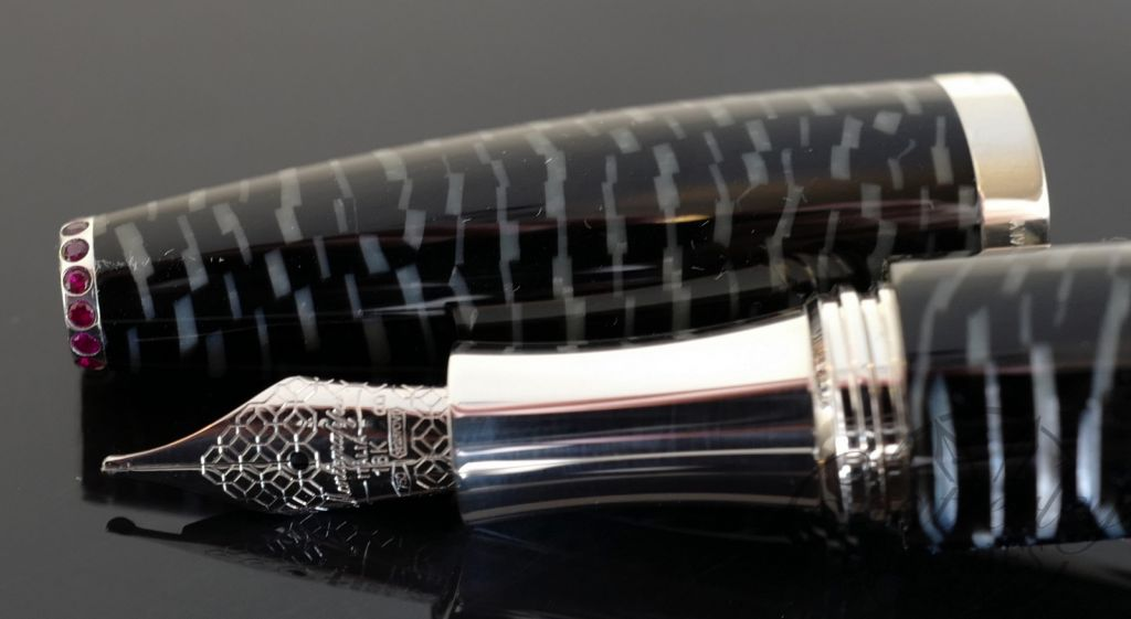Montegrappa Beauty Book Lady Zebra Celluloid Limited Edition Fountain Pen Closeout