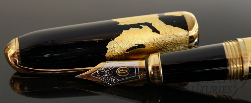 Cartier Limited Edition Dandy Gold Foil Fountain Pen