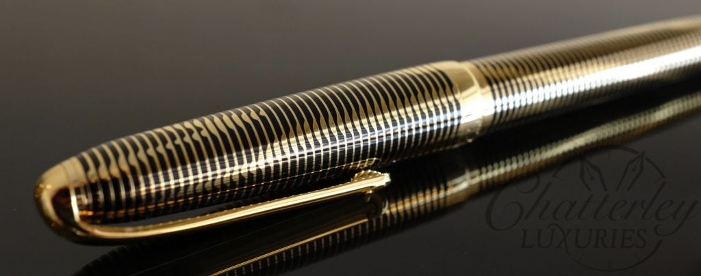 Cartier Python Gold Plated and Black Lacquer Ball Pen