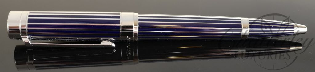 Cartier Pasha Blue Stripe & Palladium Ball Pen
