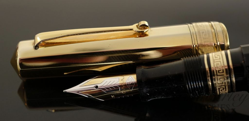 Omas Old Style Paragon Fountain Pen with Gold Cap