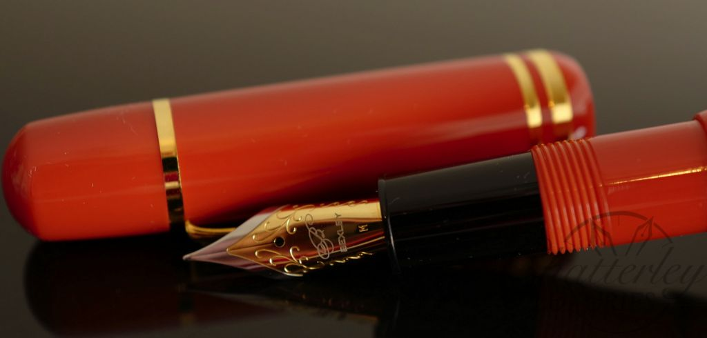 Bexley Poseidon Magnum II Orange Fountain Pen