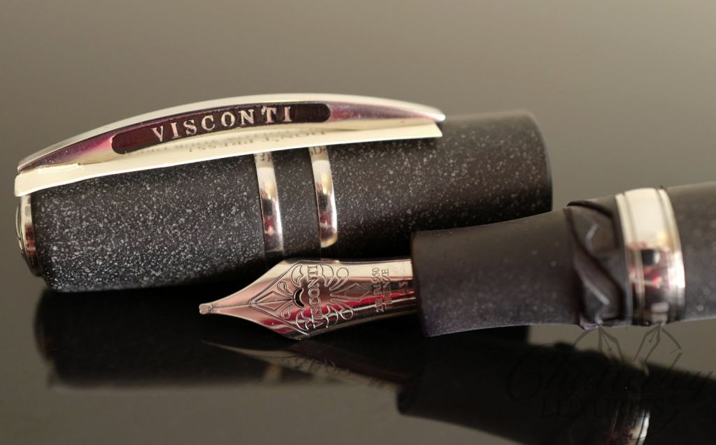 Visconti Homo Sapiens Lava Steel Age Maxi Fountain Pen