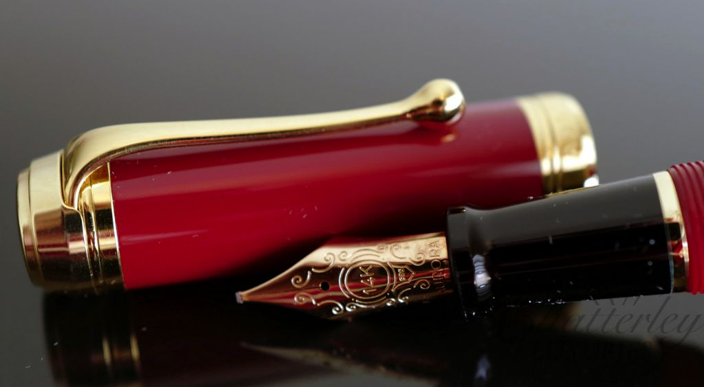 Aurora Talentum Red Fountain Pen