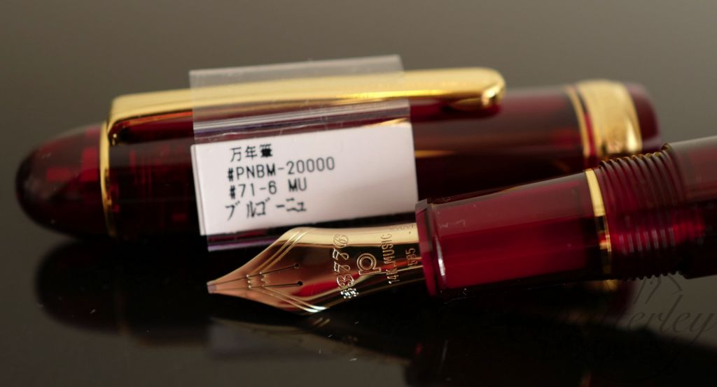 Platinum Century 3776 Bourgogne Red Fountain Pen