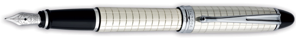 Aurora Ipsilon Quadra Sterling Silver Fountain Pen