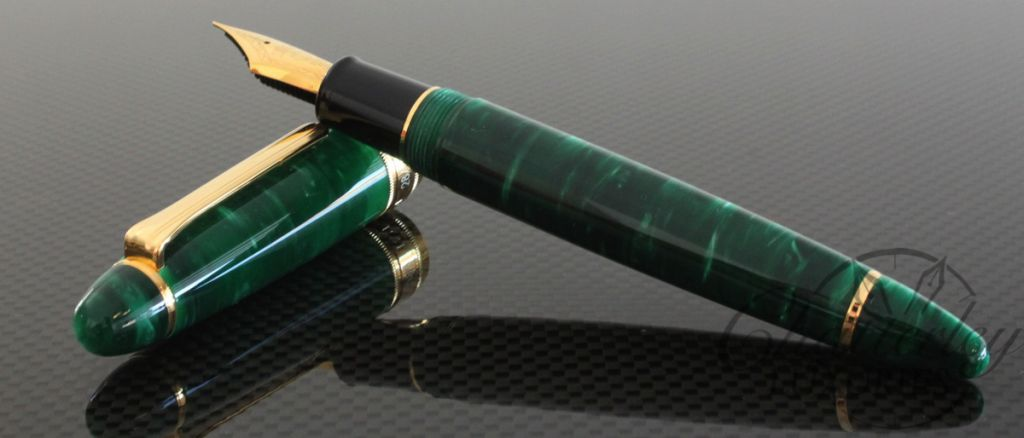 Classic Pens LB5 Limited Edition 25th Anniversary Midorigi (new green  trees) in Forest Green Fountain Pen on the Sailor King Profit