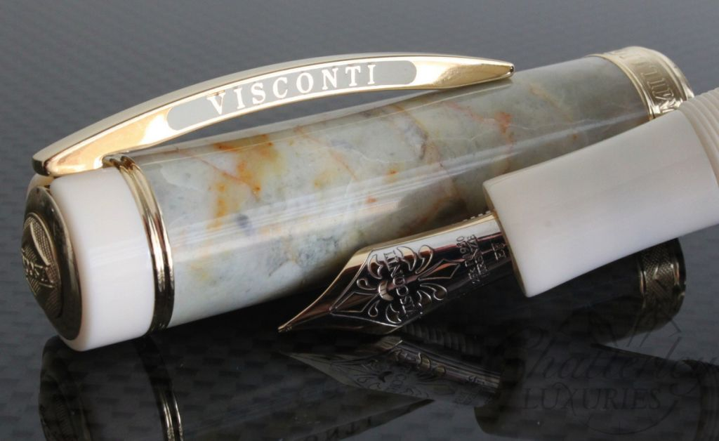 Visconti Limited Edition Marble Empire Honey Fountain Pen/Rollerball Convertible