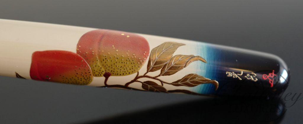 Danitrio Maki-e Urushi Fukiyose (Drift Grass and Flowers) Fountain Pen on Hanryo