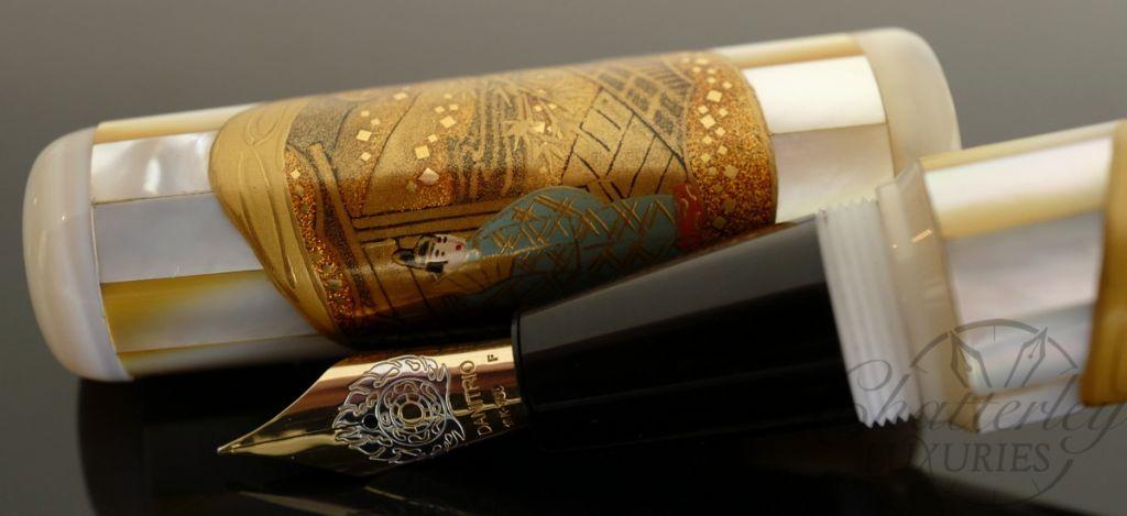 Danitrio Mother of Pearl Genji Monogatari Fountain Pen