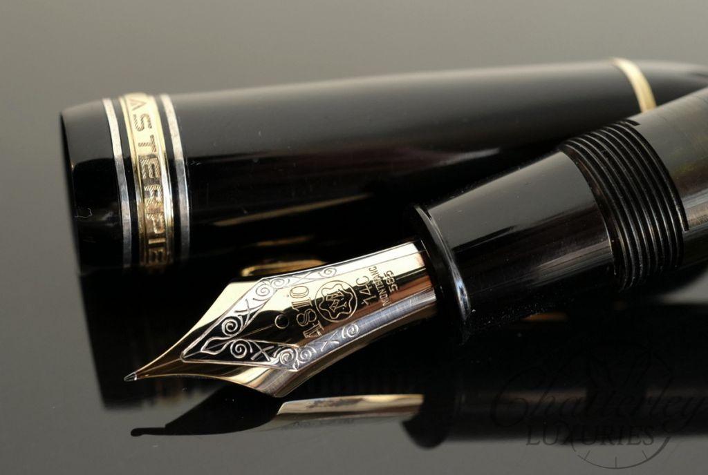 Montblanc 149 Celluloid Silver Rings Fountain Pen