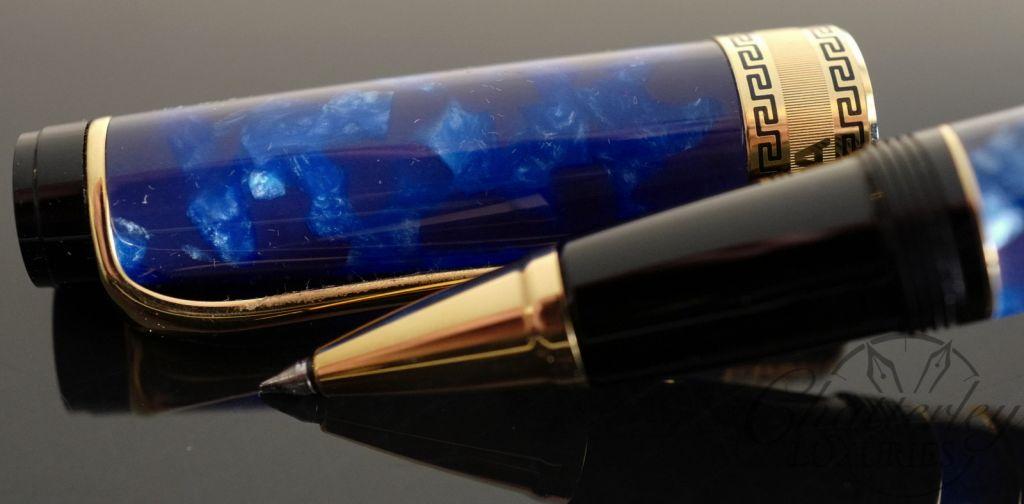Aurora Optima Blue with Gold Auroloide Rollerball
