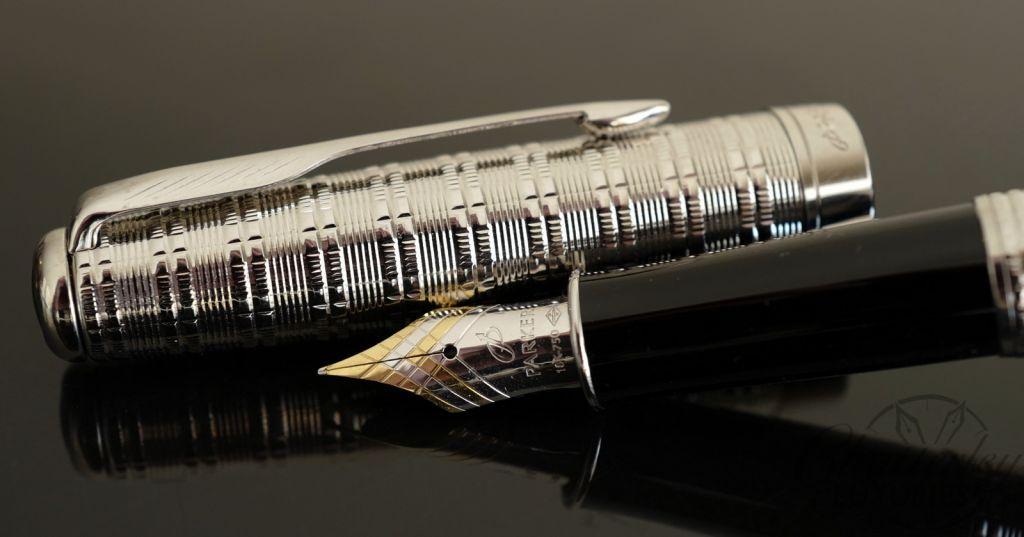 Parker Sonnet Tartan Silver Fountain Pen