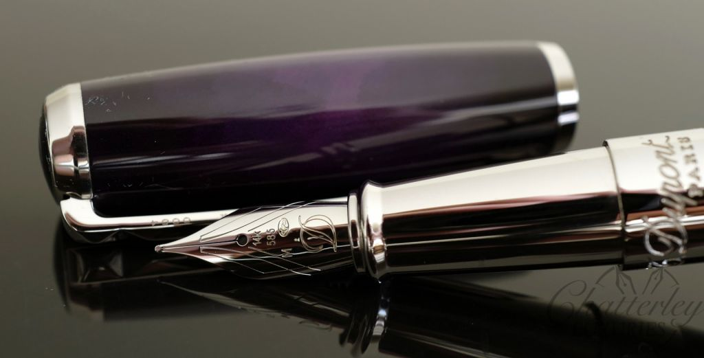 ST Dupont Atelier Purple Lacquer Limited Edition Fountain Pen - Palladium