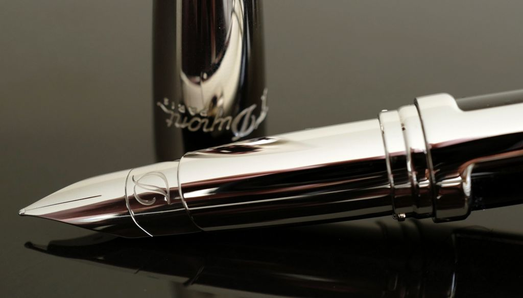 ST Dupont Defi Black Composite & Palladium Fountain Pen
