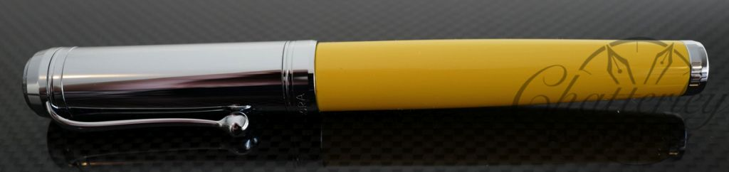 Aurora Talentum Yellow with Chrome Cap Fountain Pen (D11CY)