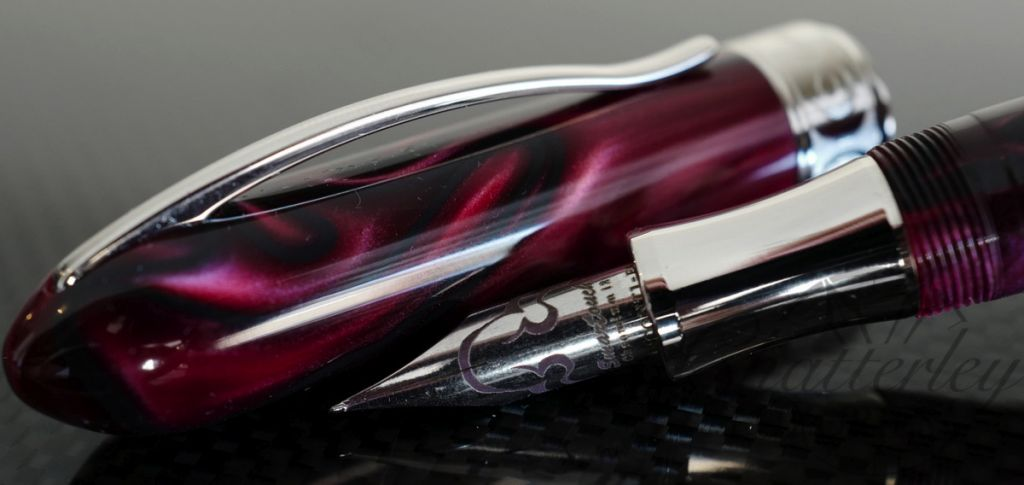 Visconti Limited Edition Millennium Arc Fountain Pen Moonlight Burgundy