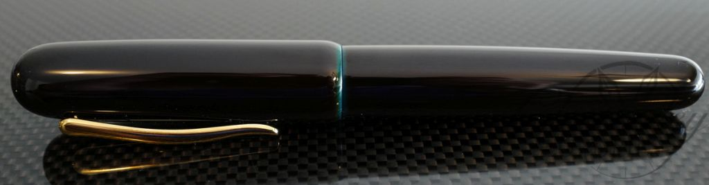 Danitrio Urushi Tame-Nuri Blue on Takumi Fountain Pen