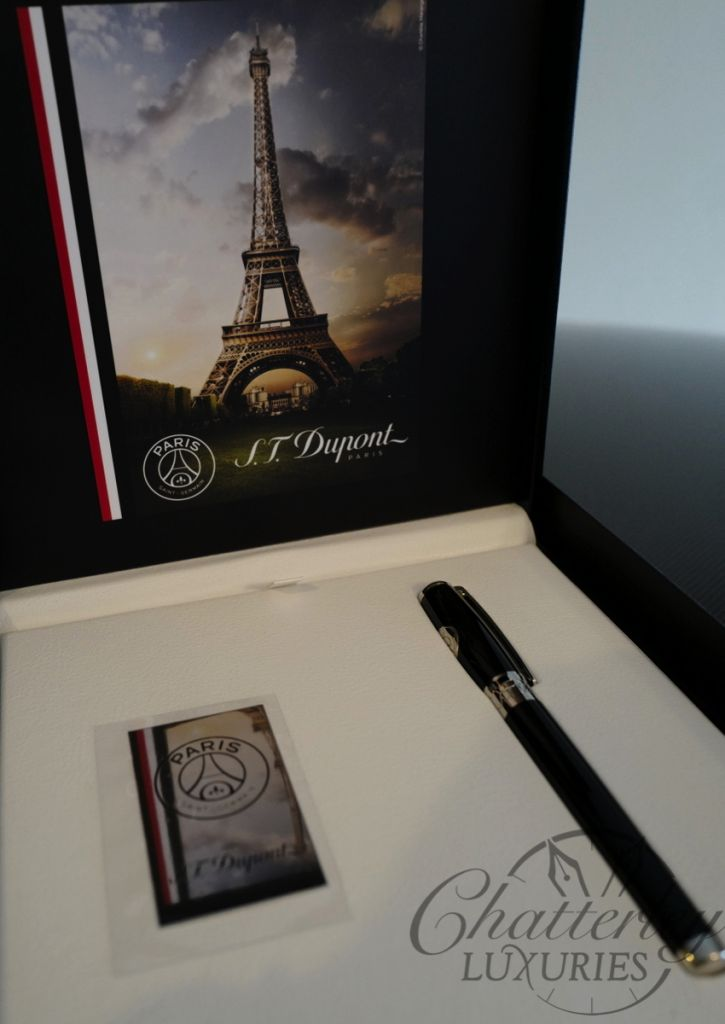 S.T. Dupont Line D Elysee Paris Saint Germain Fountain Pen
