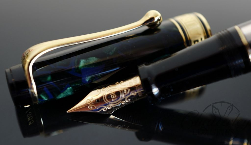 Aurora Optima 365 Abissi Blue/Green Limited Edition Auroloide Piston Filled Fountain Pen