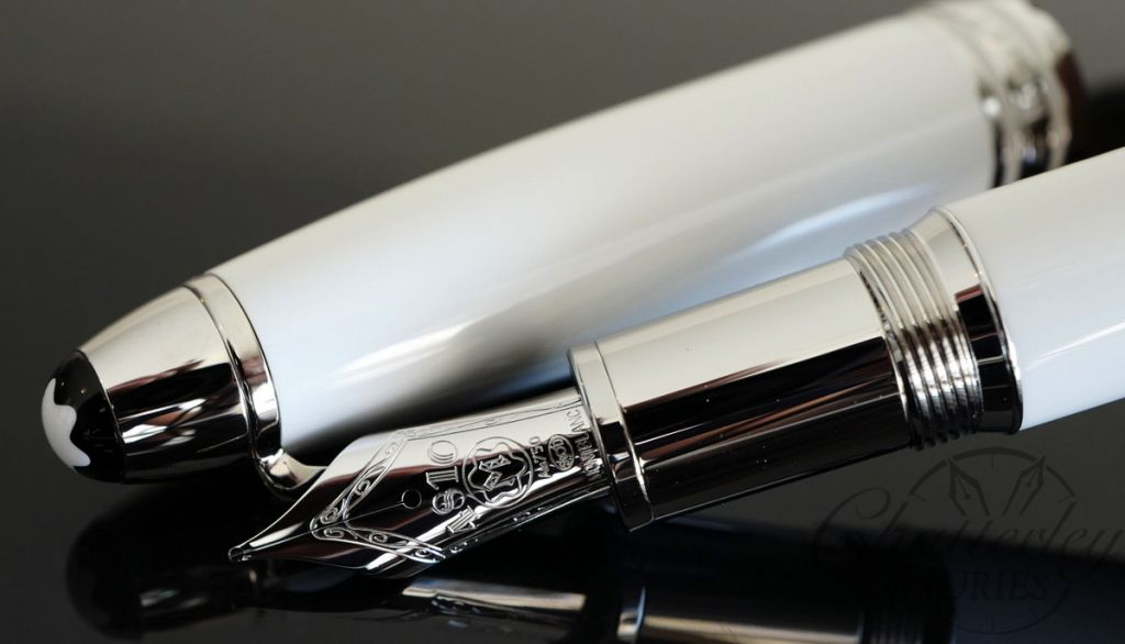 Montblanc Fountain Pen Meisterstuck White Solitaire LeGrand