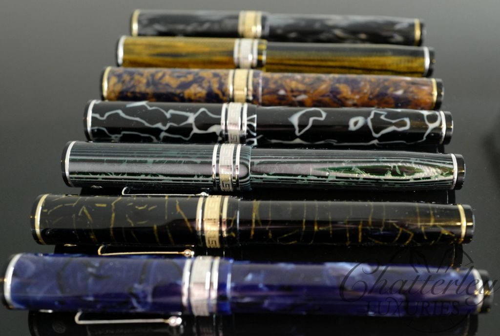 Wahl Eversharp DECOBAND Gold Seal Oversized Limited Edition MAGNIFICENT SEVEN Celluloid Fountain Pen set