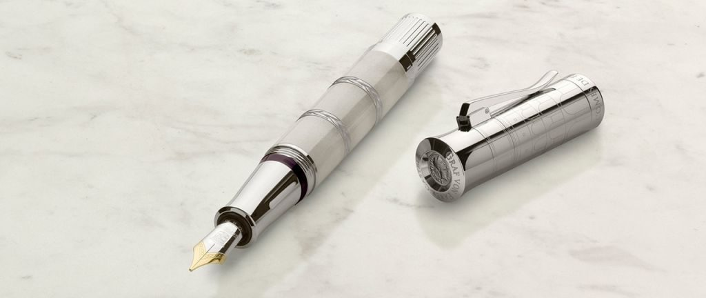 Flash Sale-Graf Von Faber-Castell Pen Of the Year 2018 Imperium Romanum White Platinum Plated Fountain Pen
