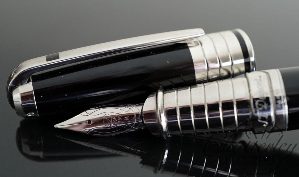 S.T. Dupont Grande Olympio Black Lacquer Fountain Pen