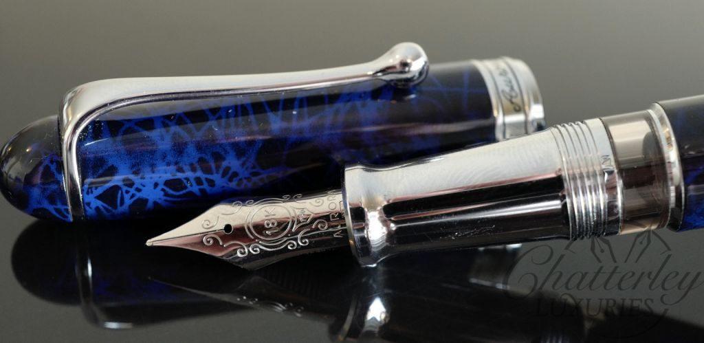 Flash Sale-Aurora 88 Sigaro (Cigar) Blue Limited Edition Fountain Pen