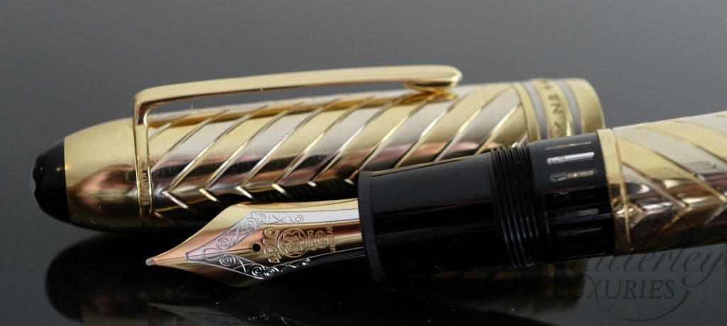 Montblanc Meisterstuck Chevron Solid Gold 149 Fountain Pen