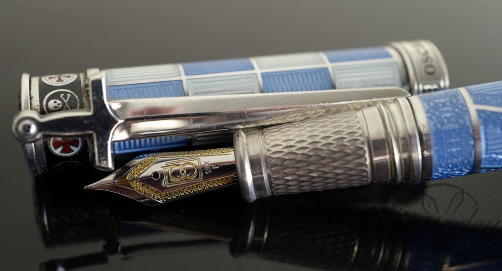 David Oscarson Jacques de Molay Light Blue Limited Edition 13/13 Fountain Pen