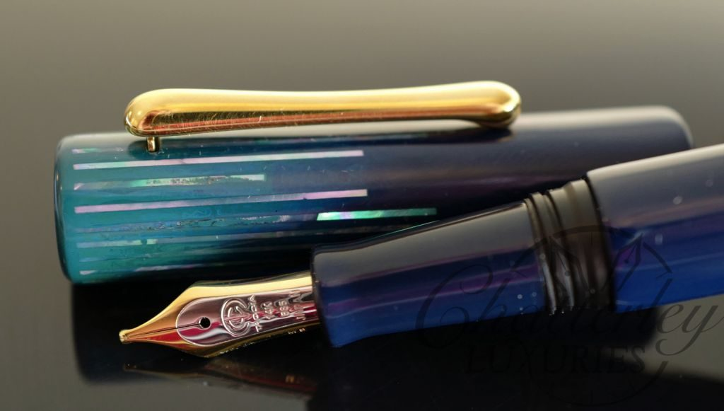 Taccia Limited Edition Reserve Polar Lights in Cerulean Blue Fountain Pen